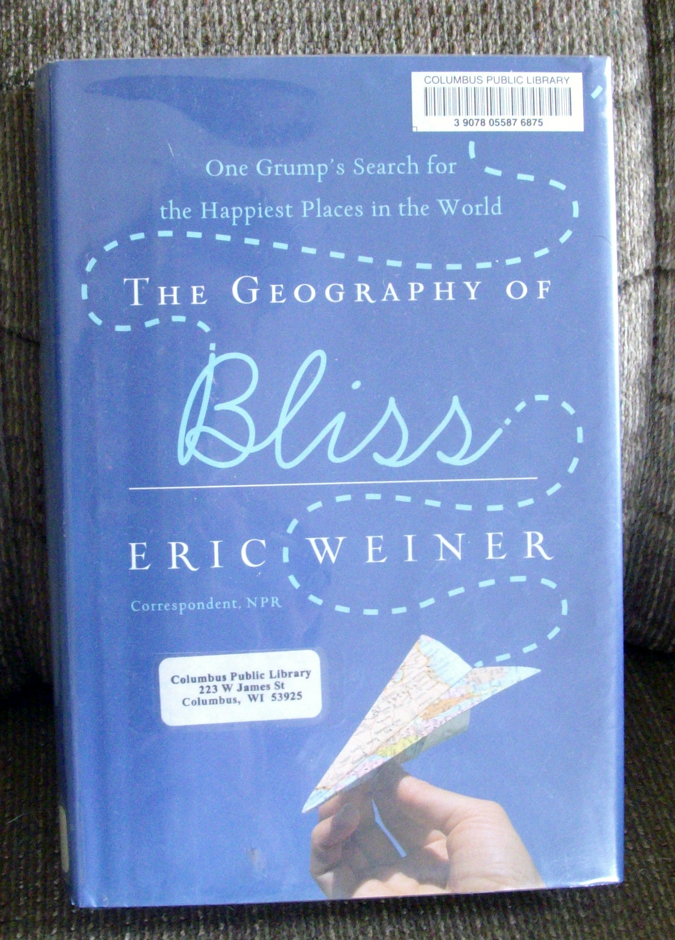the geography of bliss written by eric weiner Eric weiner, a former foreign correspondent, has reported from more than 30  countries he is the author of the geography of bliss: one.