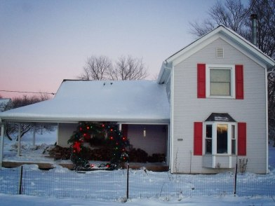 house with wreath