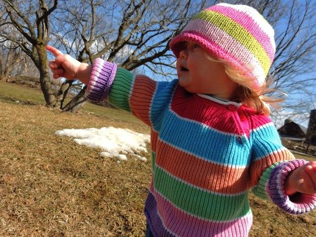Jane pointing
