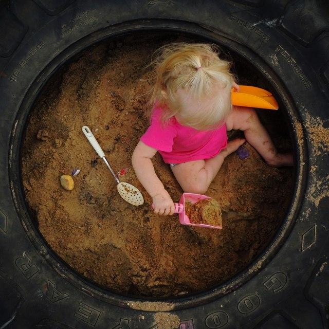 Jane in sandbox