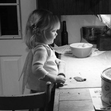 Jane making cookies