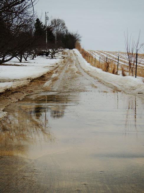 muddy driveway