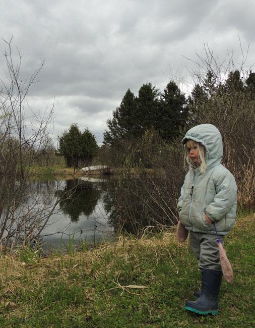 Jane by pond