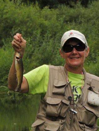 Mom fishing on Rocky Creek