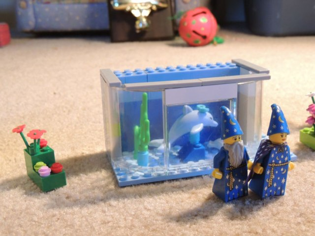 lego wizard couple visits dolphin
