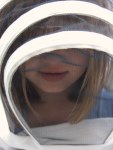 Clara in bee suit