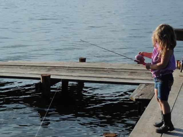 A carp fishergirl