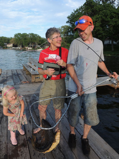 Two carp in the net
