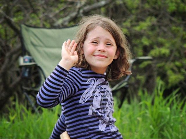 Ivy waving