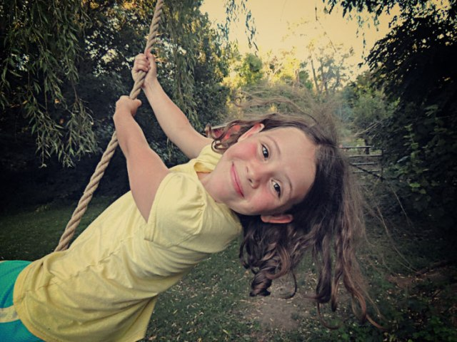 Ivy on the rope swing