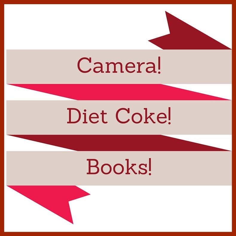 Camera, Diet Coke, Books