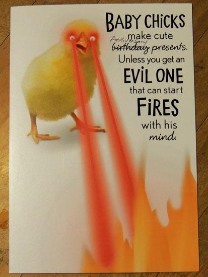 baby chick anniversary card