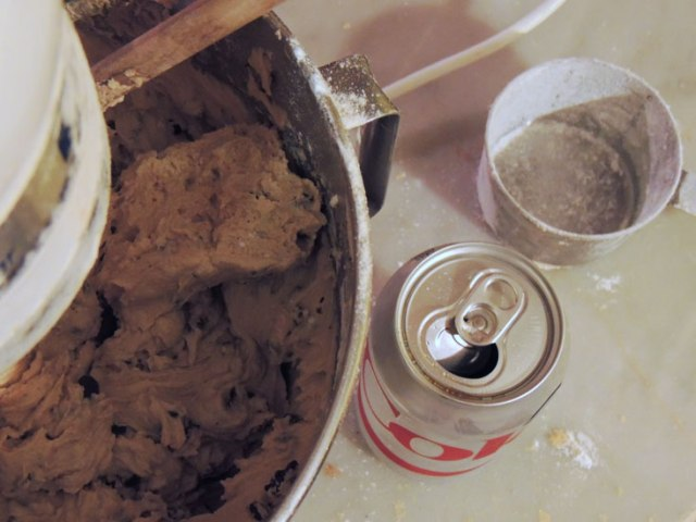 making cookies with a Diet Coke