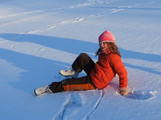 Clara ice skating