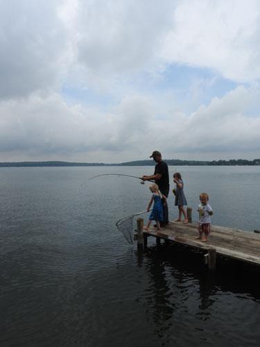 carp fishing - with kids