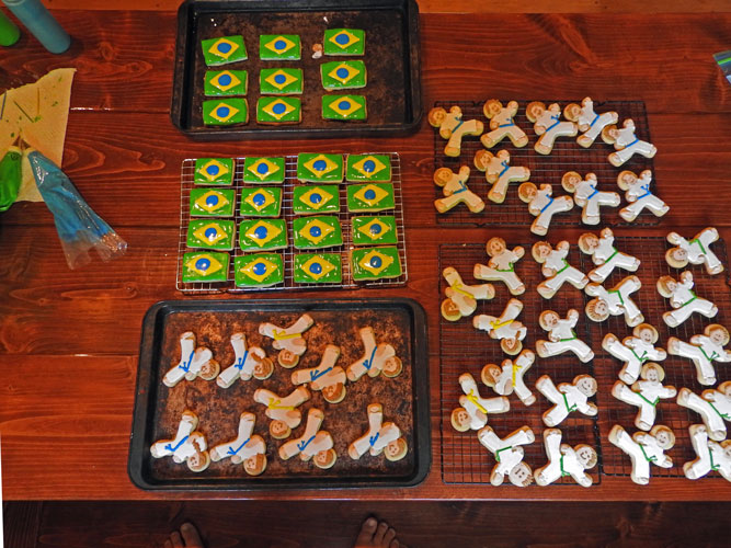 Cookies for our capoeira group's fundraiser.