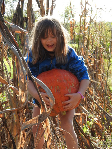 Clara and pumpkin