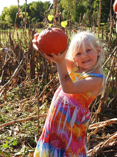 Jane with pumpkin