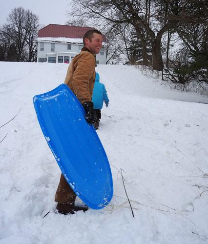 John sledding