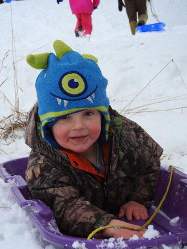 Jonas sledding