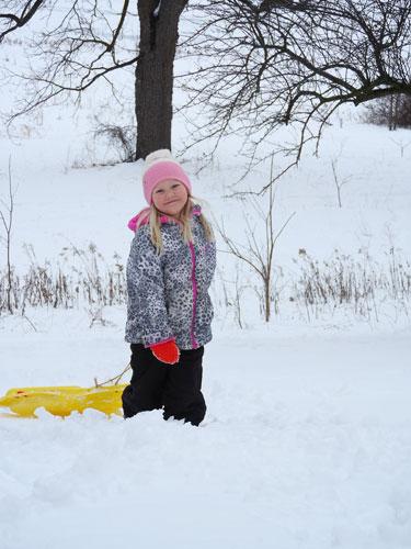 Jane sledding